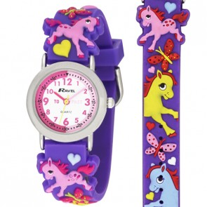 Ravel Girls 3D Pony Time Teacher Watch