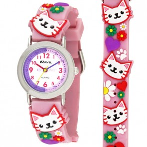 Ravel Girls 3D Kittens Time Teacher Watch