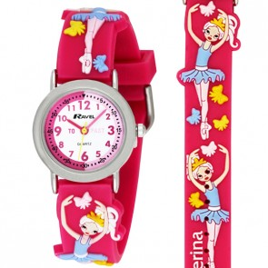 Girl's Cartoon Time Teacher Watch - Ballerina