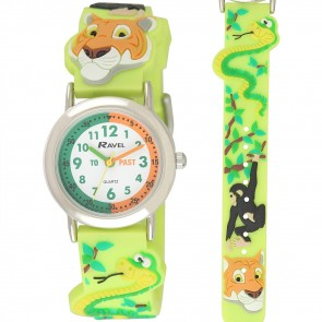 Kid's Cartoon Time Teacher Watch - Jungle