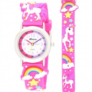 Ravel Kids 3D Unicorn Time Teacher Watch