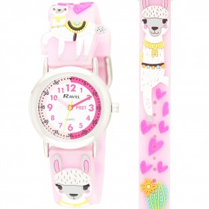 Kid's Cartoon Time Teacher Watch - Llama
