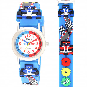 Kid's Cartoon Time-Teacher Watch - Rally Racing Car