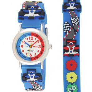 Kid's Cartoon Time-Teacher Watch - Rally Racing Car