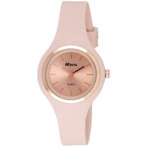 Ravel Ladies Rose Gold Floral Summer Days Silicon Watch