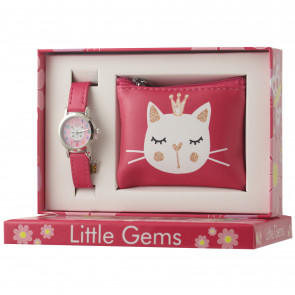 Little Gems Watch & Coin Purse Gift Set - Kitten