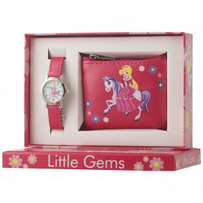 Little Gems Watch & Coin Purse Gift Set- Princess