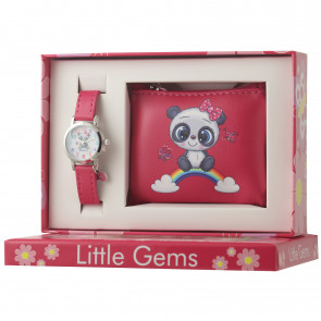 Little Gems Watch & Coin Purse Gift Set - Panda