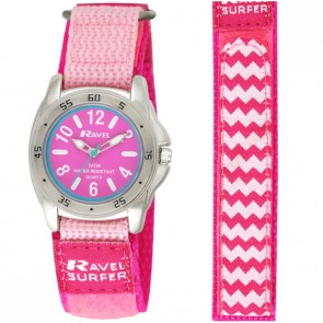 Ravel Girls Velcro Surfer 5ATM Watch