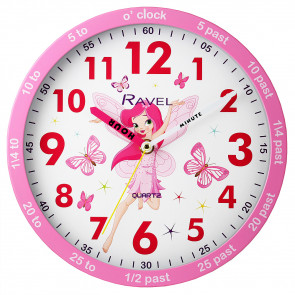 Kids 25cm Time-Teacher Wall Clock - Fairy