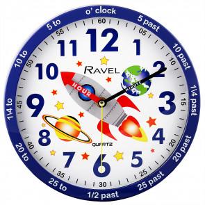 Kids 25cm Time-Teacher Wall Clock - Space