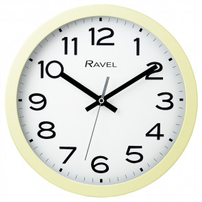 25cm Kitchen Wall Clock - Cream