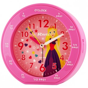 Girl's Teaching Time Clock - Princess