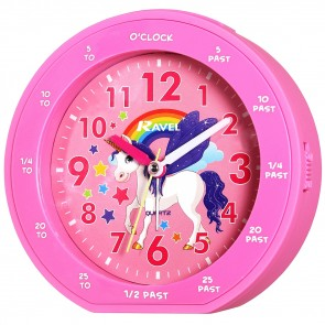 Girl's Teaching Time Clock - Unicorn