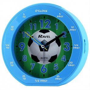 Boy's Teaching Time Clock - Blue Football