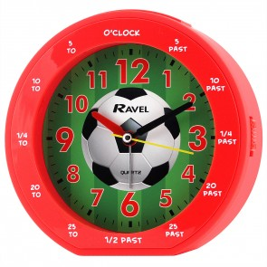 Boy's Teaching Time Clock - Red Football