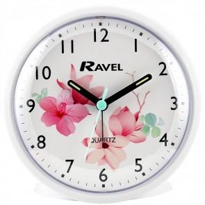 Ravel Quartz Flowers Alarm Clock