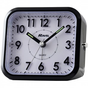 Ravel Quartz 3D Dial Sloped Alarm Clock