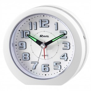 Ravel Quartz 3D Dial LED Alarm Clock