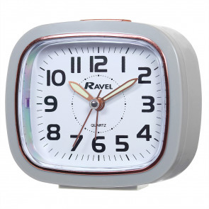 Rose Gold Tone Rimmed Quartz Alarm Clock