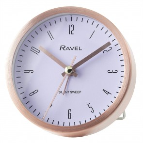 Quartz Metal Round Modern Number Alarm Clock