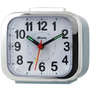 Ravel Quartz Chrome Edged Alarm Clock