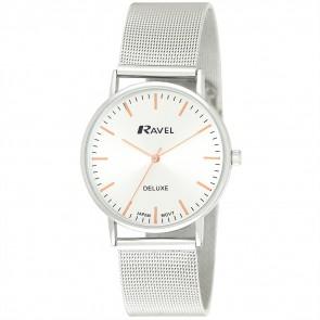 Ravel Deluxe Mens Mesh Bracelet Watch