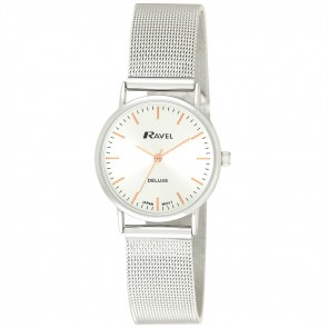 Deluxe Women's Mesh Bracelet Watch