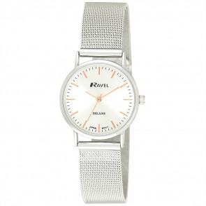 Ravel Deluxe Ladies Mesh Bracelet Watch