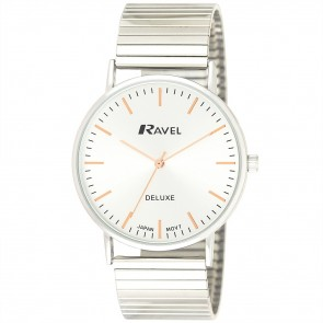 Ravel Deluxe Mens Classic Expander Bracelet Watch