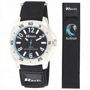 Ravel Deluxe Mens 5ATM Velcro Sports Watch