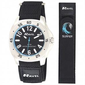 Deluxe Men's 5ATM Velcro Sports Watch