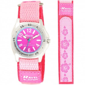Ravel Deluxe Girls 5ATM Velcro Sports Watch