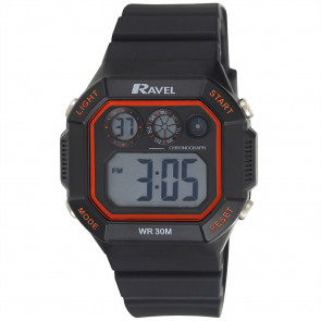 Square Digital Watch Red