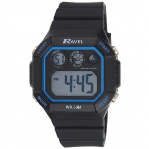 Square Digital Watch Blue