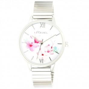 Women's Garden Blossom Bracelet Watch - Silver