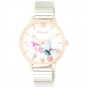 Women's Enchanted Butterfly Bracelet Watch - Rose Gold / Silver