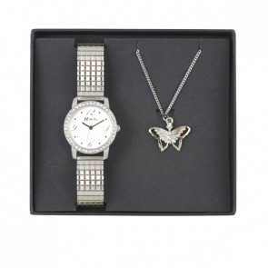 Ravel Ladies Expander and Butterfly Pendant Set